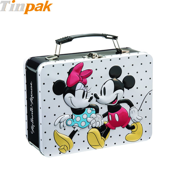 Disney Mickey & Minnie Large Tin Tote for Puzzles