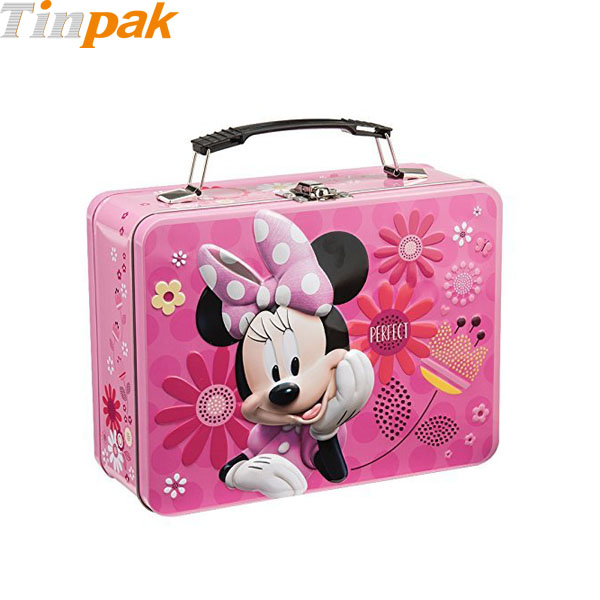 Disney Minnie Metal Lunch Tin Tote