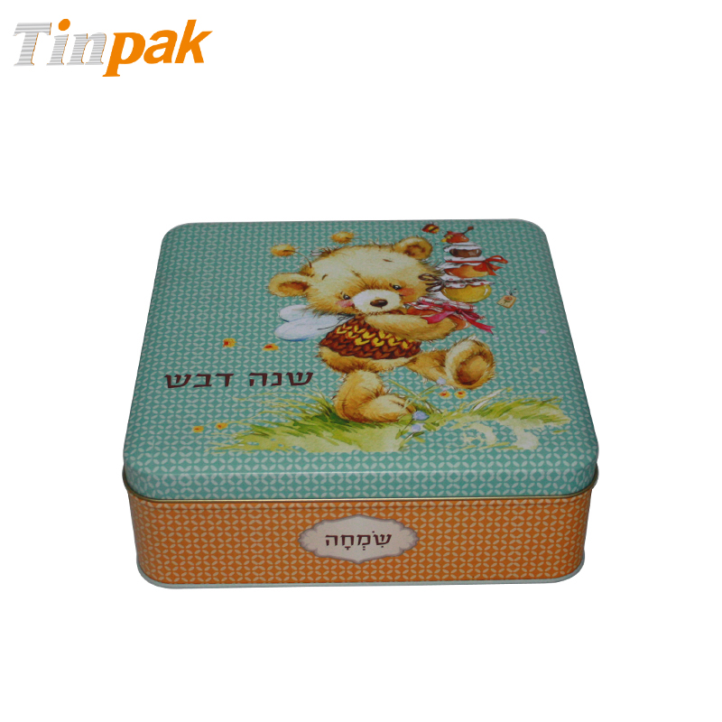 Bespoke Printed Square Cookie Tin Box Factory