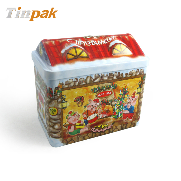 Christmas Chocolate House Shape Tin Wholesaler