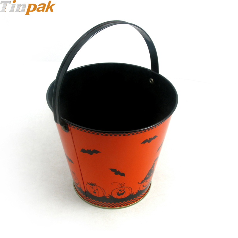 Happy Halloween Tin Buckets for Popcorn