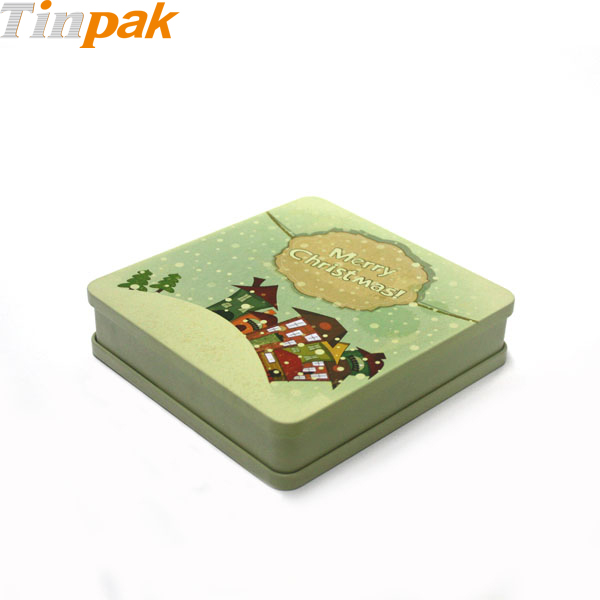 Bulk Rectangular Christmas Tins with Lid