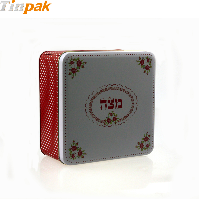 Decorative Empty Metal Cake Tin Box