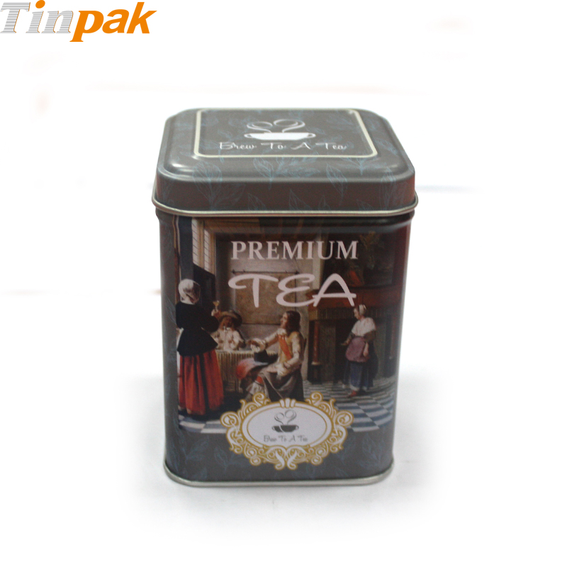 Small Square Tea Tin Company