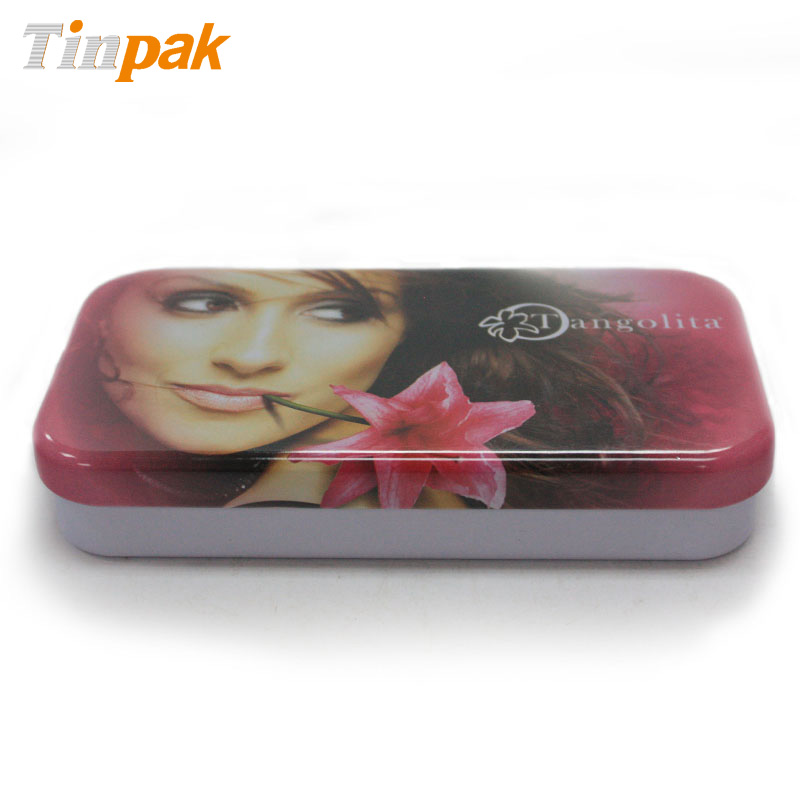Empty Rectangle Lip Gloss Tin Box