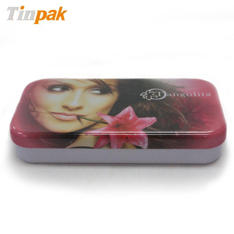 Empty Rectangle Lip Gloss Tin Box