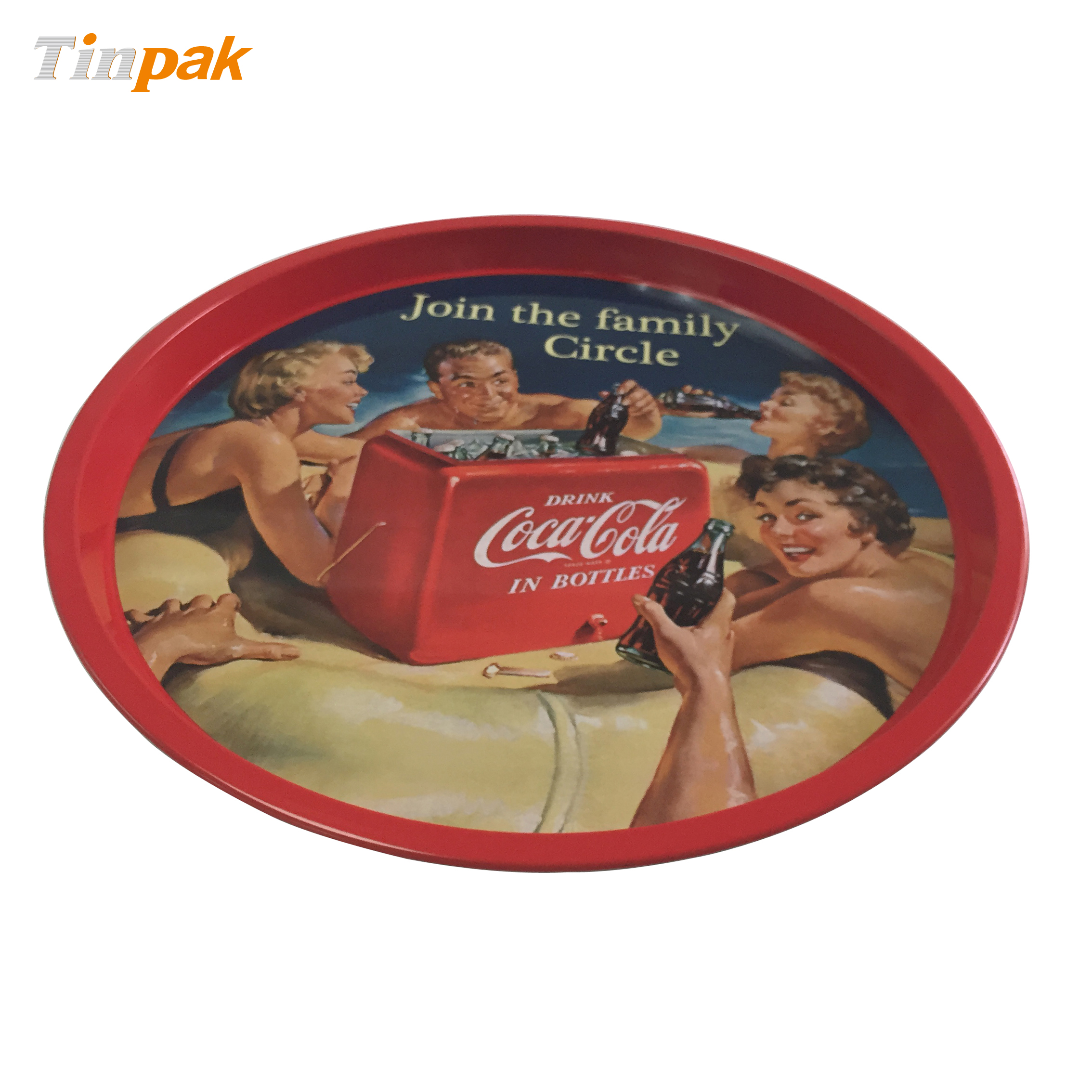 Coca Cola Round Tin Serving Tray