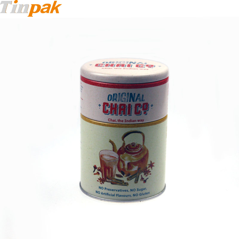 Round Tin Tea Packaging Box with 2 Tiers