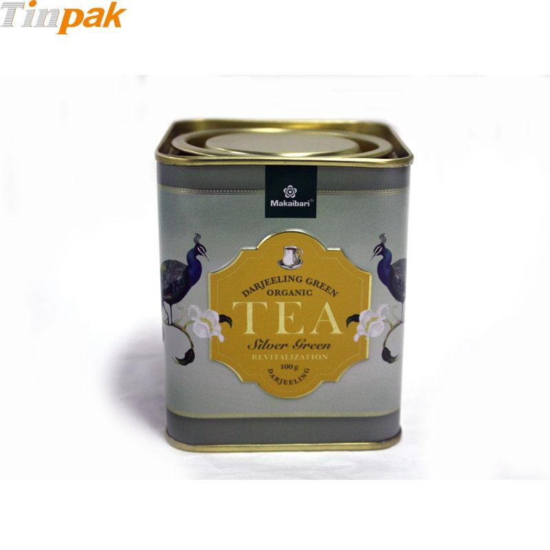Antique lever lid tea tin boxes for sale