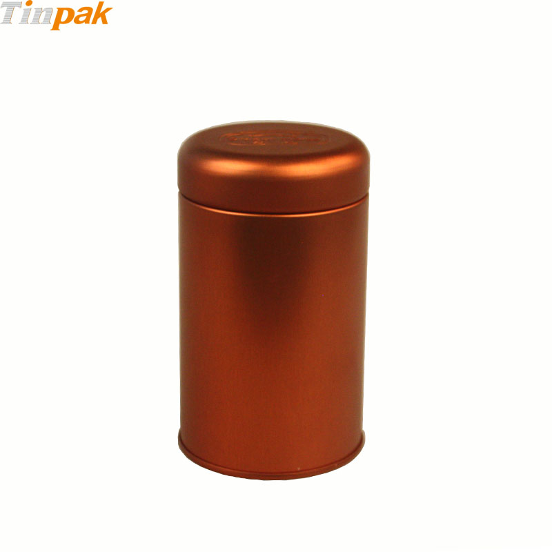 Printed Copper Round Plug Tea Tin