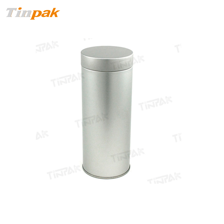 Round Plain Tea Tin with Airtight Lid