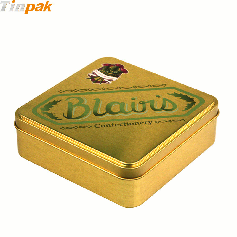 Wholesale premium square chocolate tin