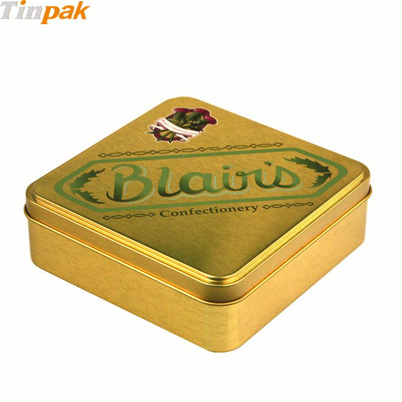 Wholesale premium square chocolate tin