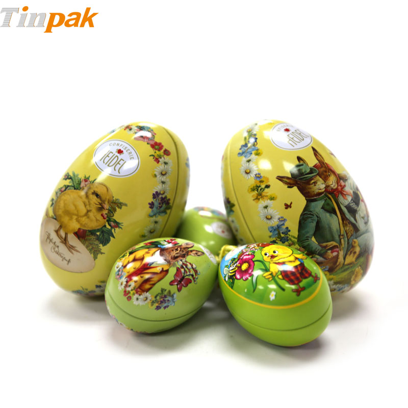 Bulk Antique Easter Egg Gift Tins for Candies