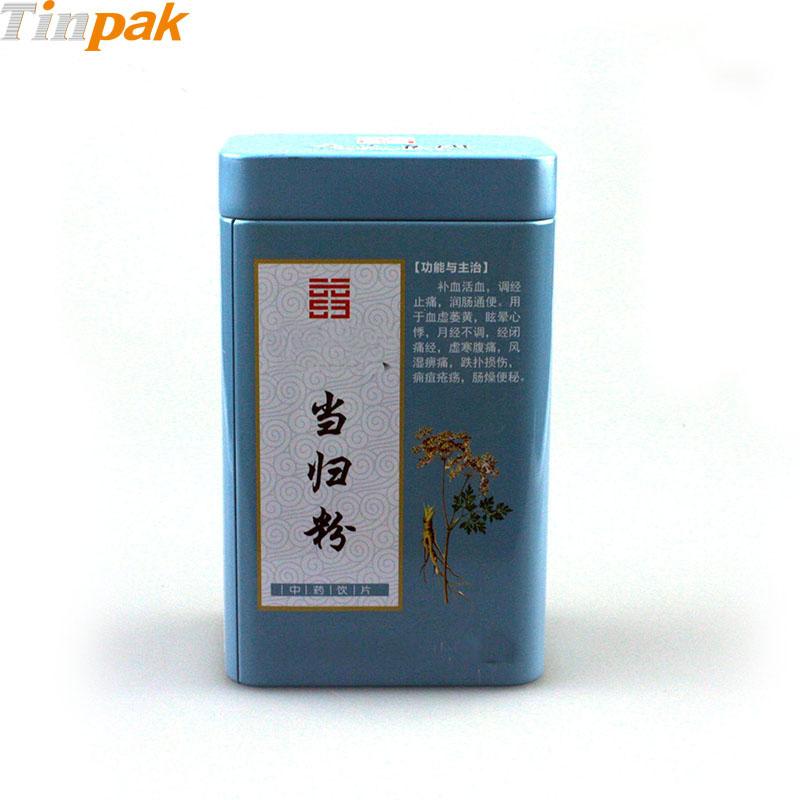 Airtight tea tin canister with plus lid