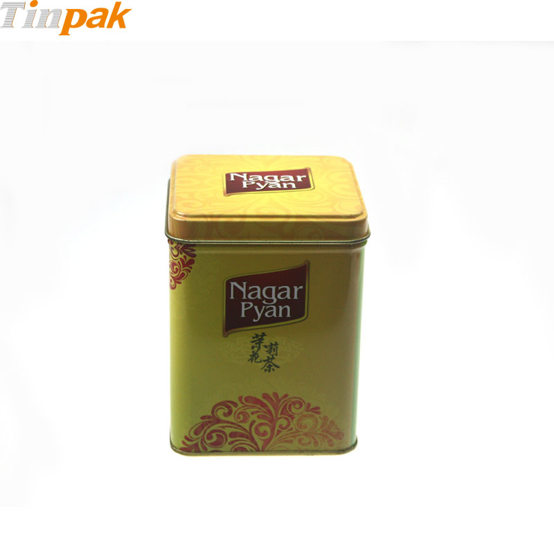 Wholesale Custom Printed Square Tea Tins
