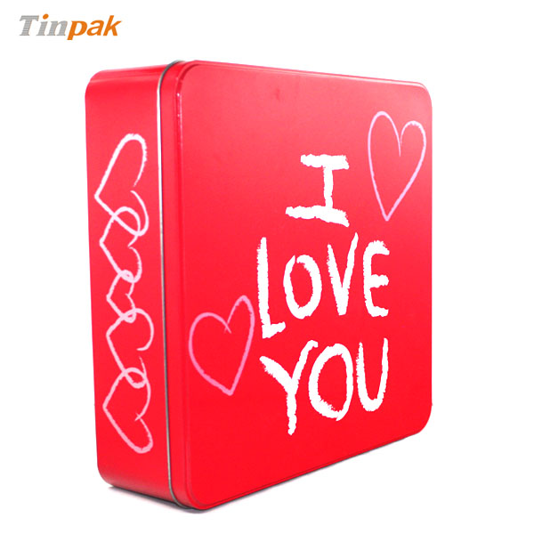 Custom Printed Valentine gift tin for sale