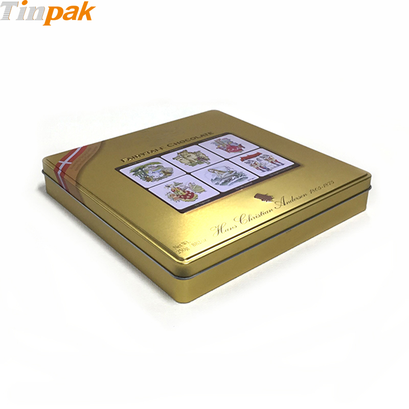 Large Collective Square Tin Food Containers for Chocolate