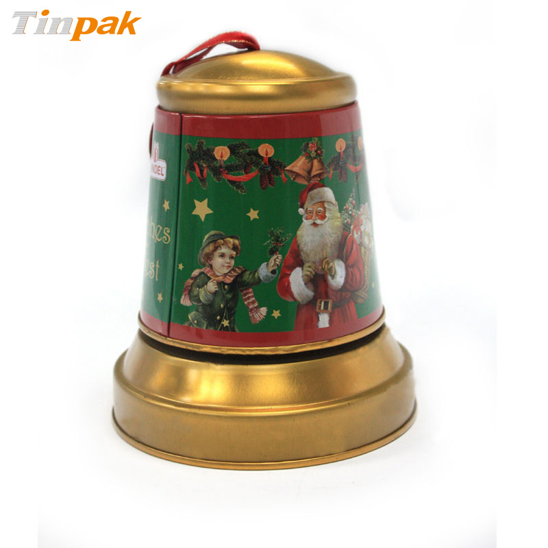Wholesale decorative tin gift boxes with ribbon closure