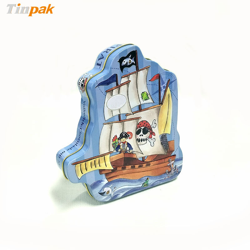 Wholesale Custom Pirate Ship Metal Box for Chocolates