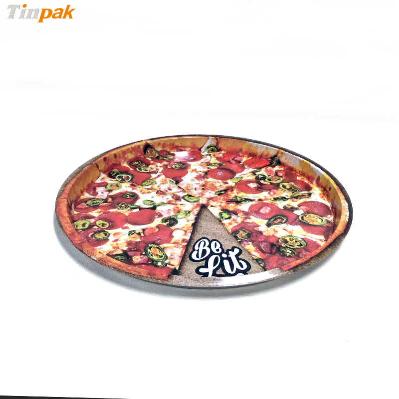 2017 hot sale round metal serving trays