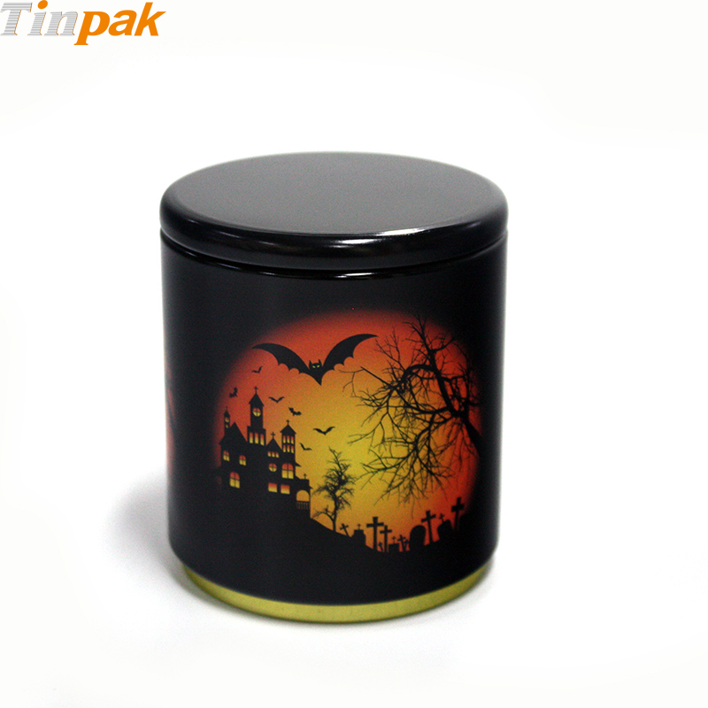Custom Decoration Round Halloween Tins