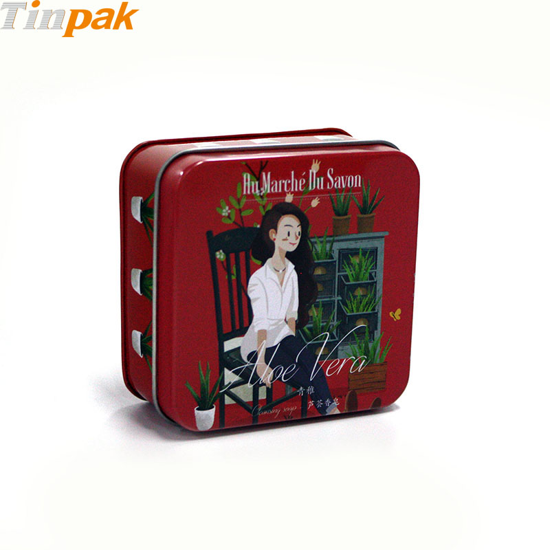 2017 hot sale custom square candle tin containers
