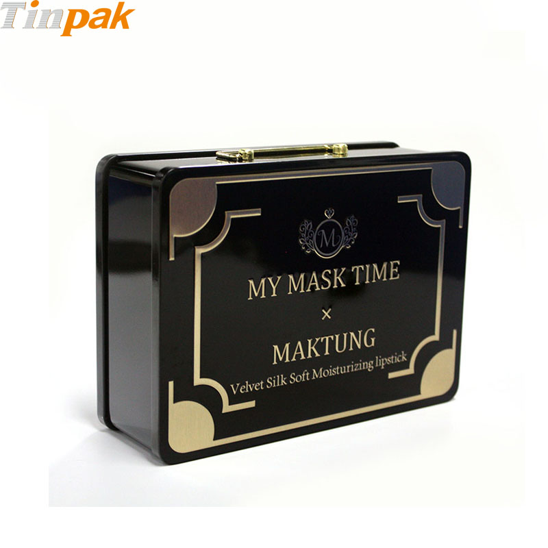 Custom handled cosmetic tins for mask