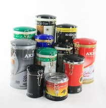 Custom printed metal tea tins