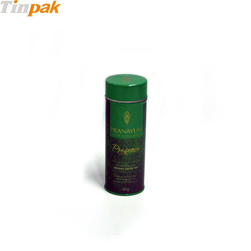 Round custom printed coffee tin canisters
