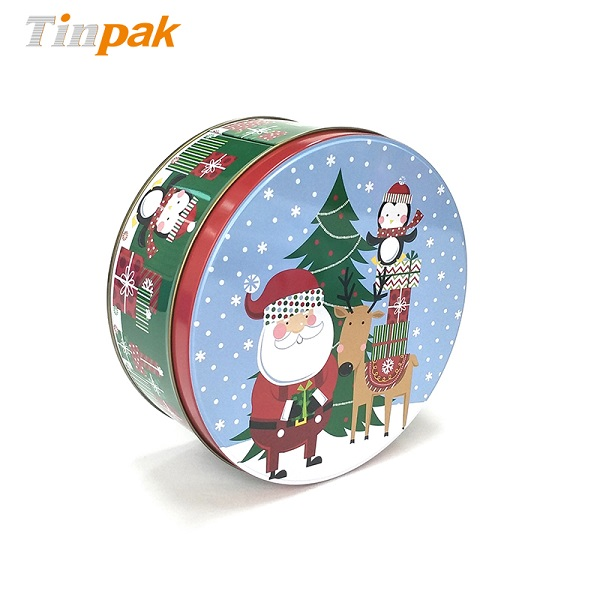 Wholesale Decorative Round Christmas Tins