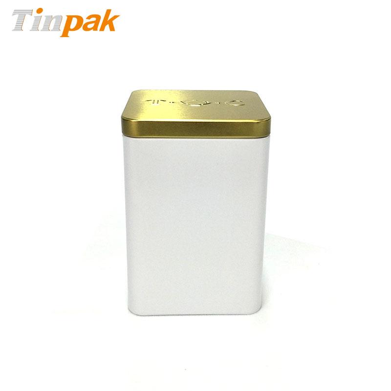 Food grade square bulk tea tins wholesale