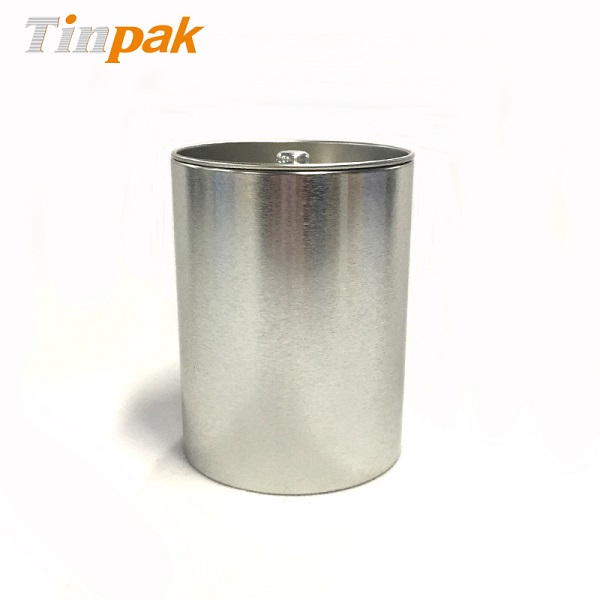 Stainless Steel airtight plain round coffee metal canister