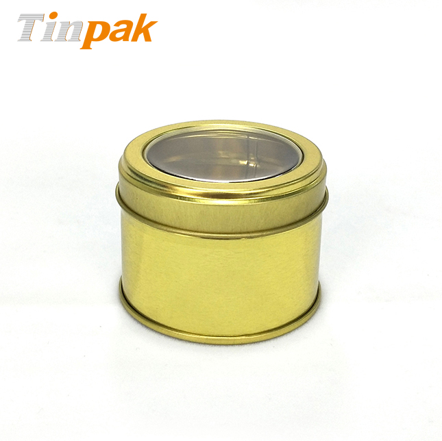 wholesale aluminum scented candle holder with clear lid