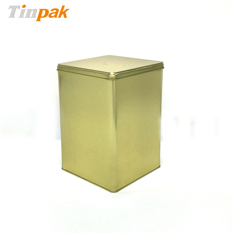 Large food grade square tea tin boxes
