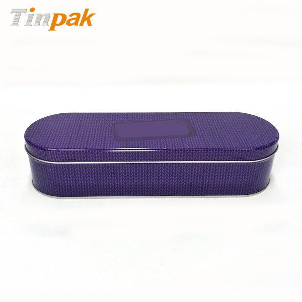 Hot sale large oval chocolate tin containers