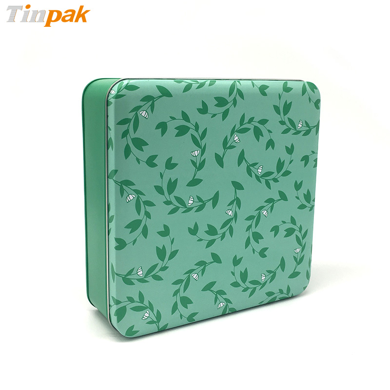 Square Christmas gifts packaging tin box