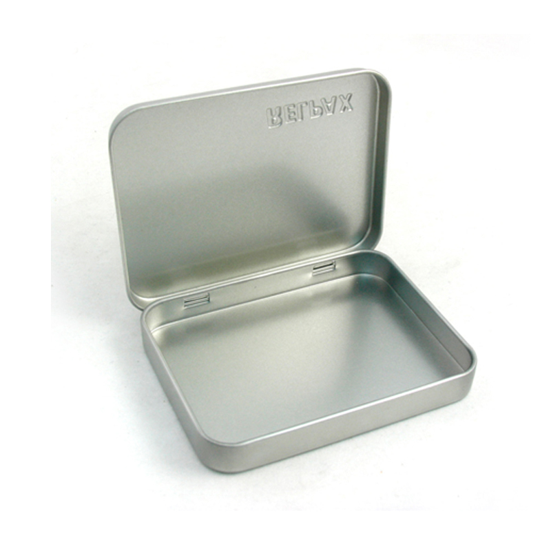 Plain hinged chewing gum mint tins