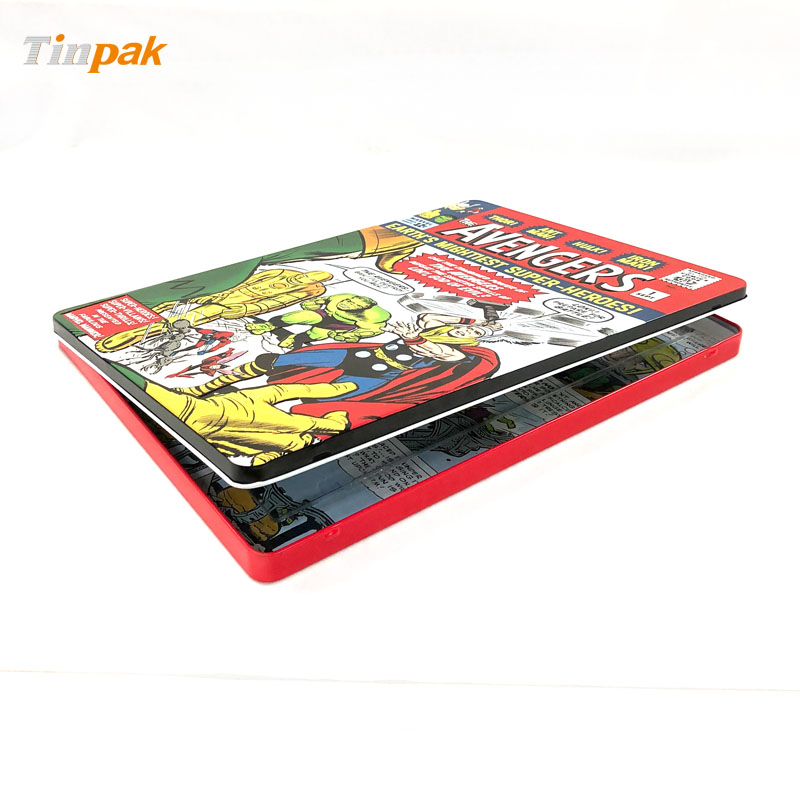 Custom Rectangular Stationery Gift Tin Box Factory