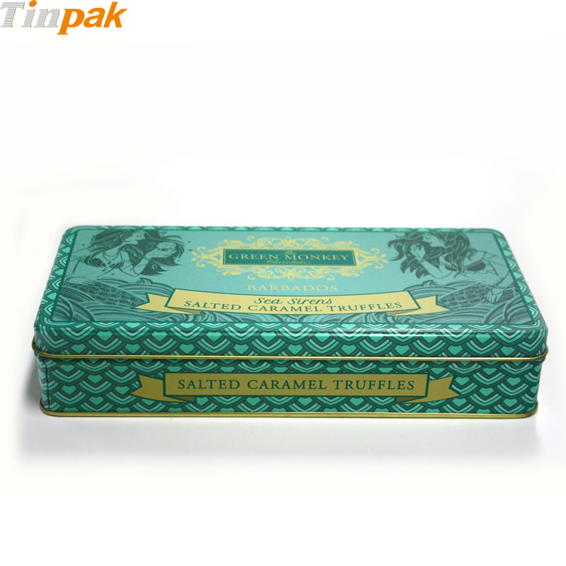 Rectangle gift candy box tin factory