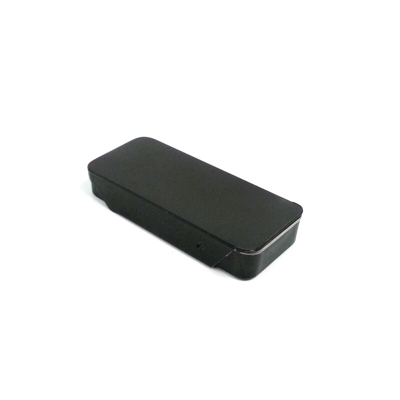 Slide black mint candy tin metal box