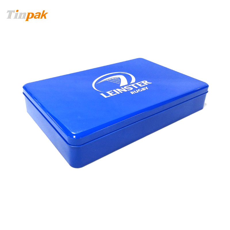 Whoesale customized large metal boxes with higned lid