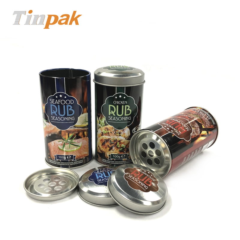 Popular Round Spice Shaker Tin Packaging Factory