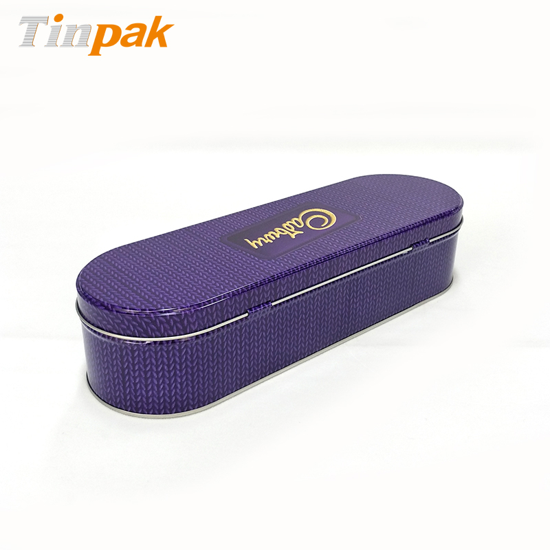 Food Safe Hinged Biscuit Oval Tin Box