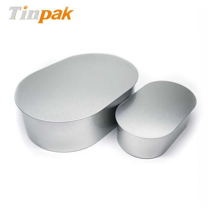 High Grade Oval Food Tin Container