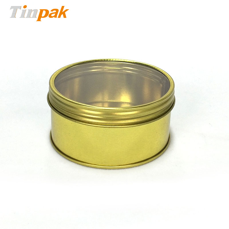 Child Resistant screw top tin for spice packaging
