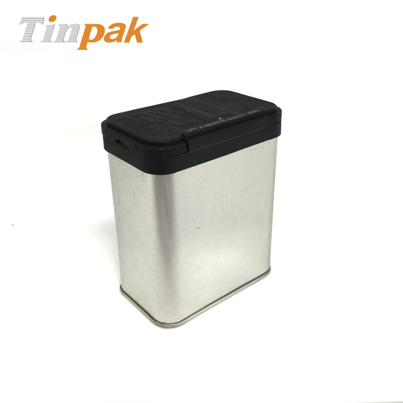 Customized rectangular spice tin containers with shaker lid