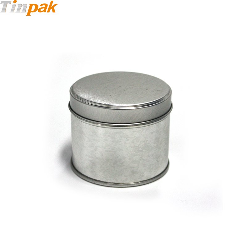 Popular Round Scented Candle Tin Jar with Welded Seam
