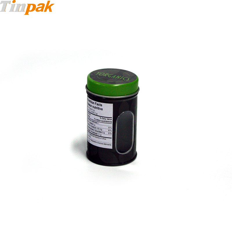 Biodegradable 50gram spice tin holder with shaker insert