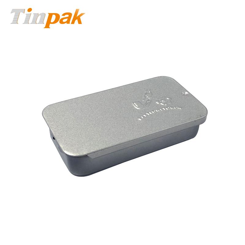 custom small sliding tin solid perfume case with sliding lid
